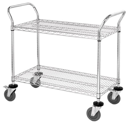 Chrome Wire Shelf Utility Carts