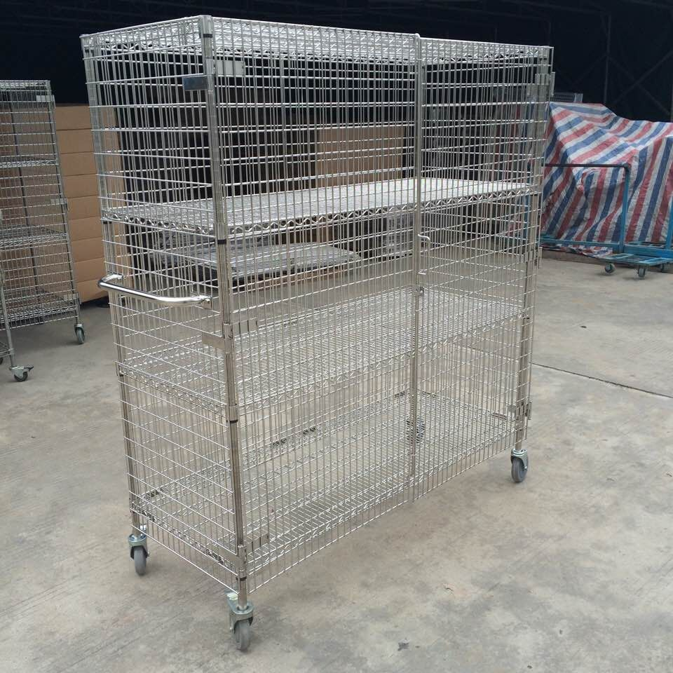 304 Stainless Steel Security Cage Cart