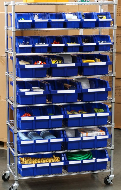 Metal Storage Bin storage rack ESD Boxes storage rack shelving trolley